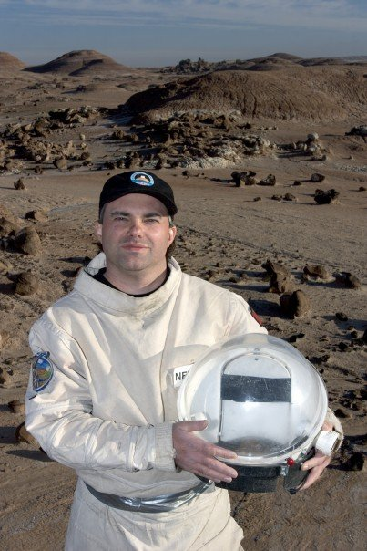 "Kent Nebergall ""hero shot"" from MDRS Crew 32 - 2004."