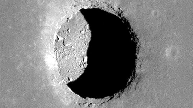 Lunar Skylight crater